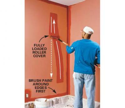 آموزش نقاشی ساختمان با غلطک